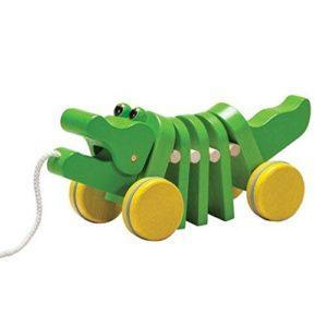 plan toys pull-along alligator