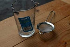 measuring cup & strainer