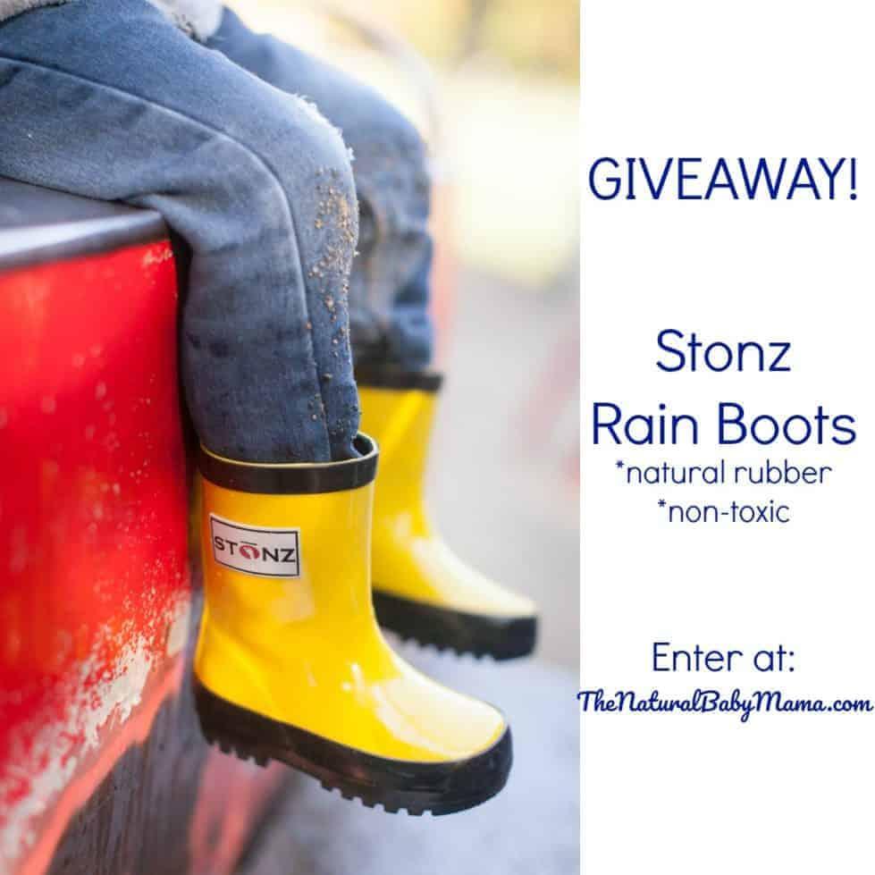 Giveaway: Stonz Natural Rubber Rain Boots - Natural Baby Mama